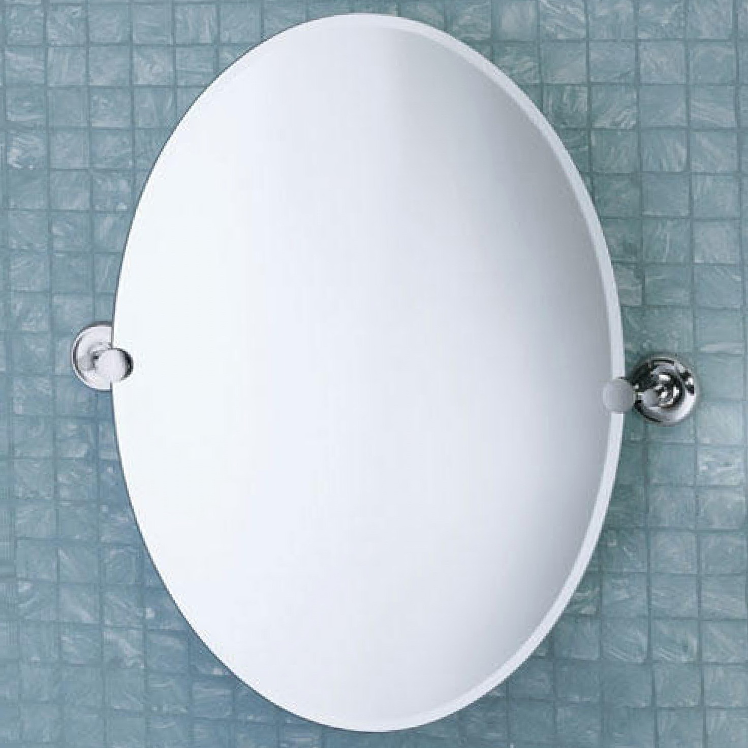 Oval Bathroom Mirrors Chrome