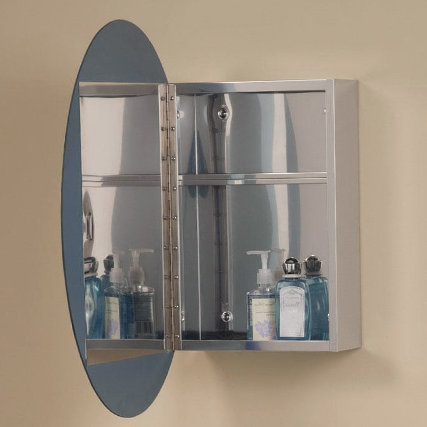 Oval Bathroom Mirrors With Medicine Cabinet Home Design