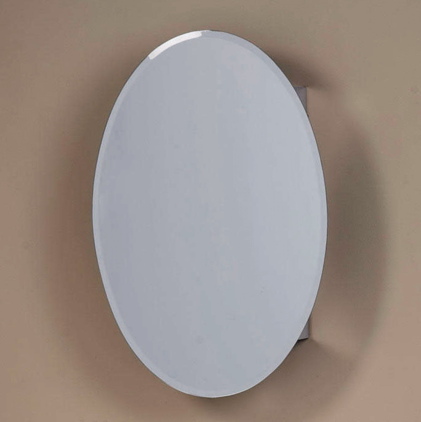 Oval Mirror Medicine Cabinet