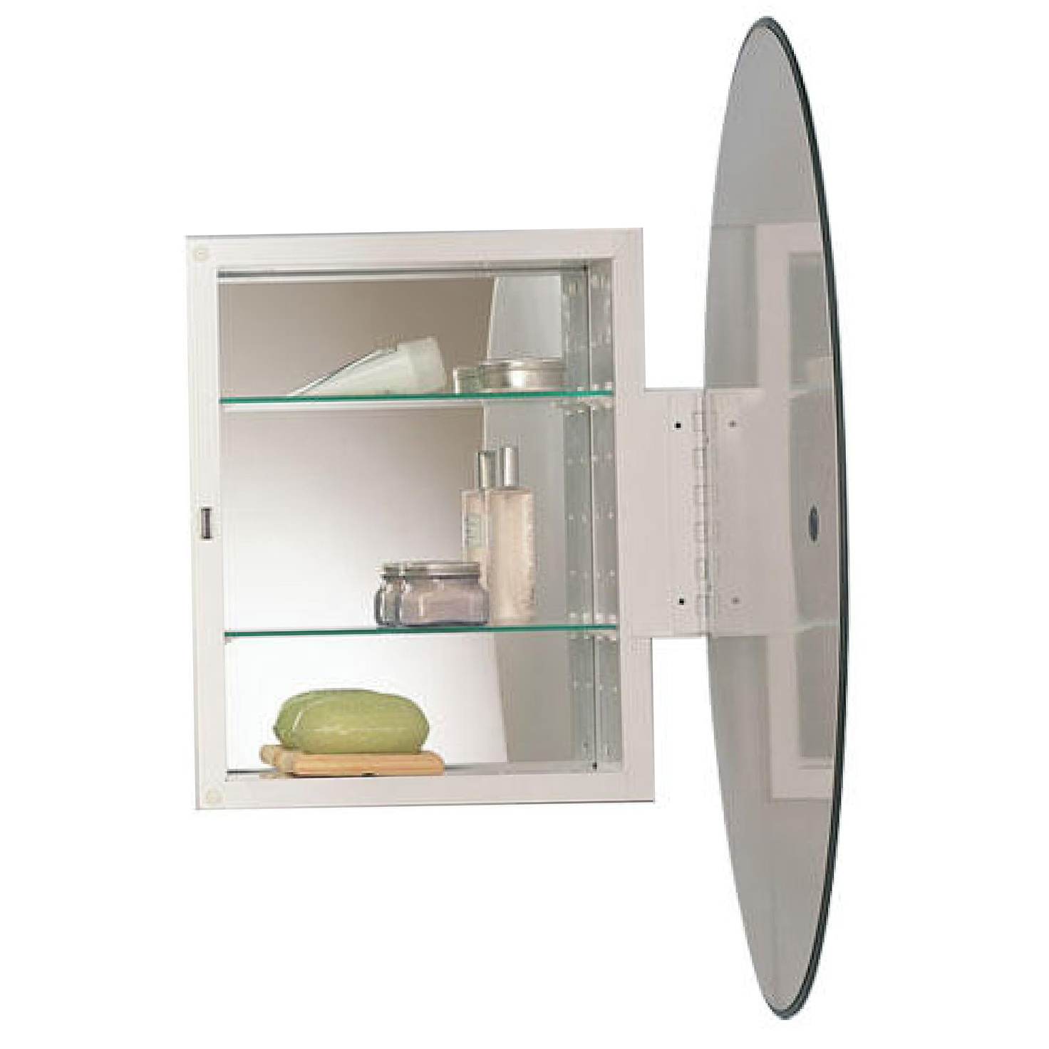Oval mirrored medicine cabinet home design ideas Oval bathroom mirror cabinet
