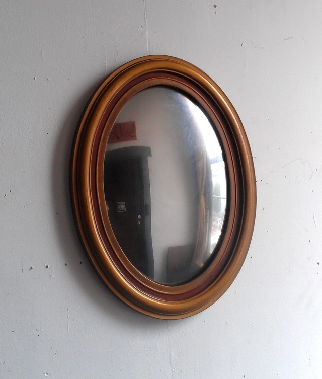 Oval Reclaimed Wood Mirror