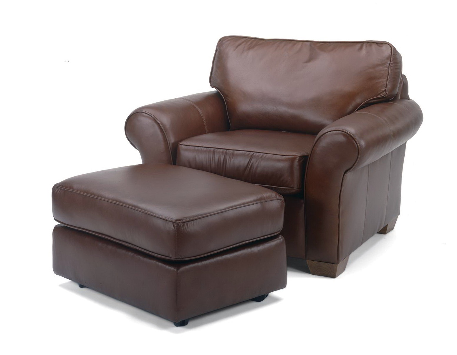 Oversized Chair With Ottoman Leather