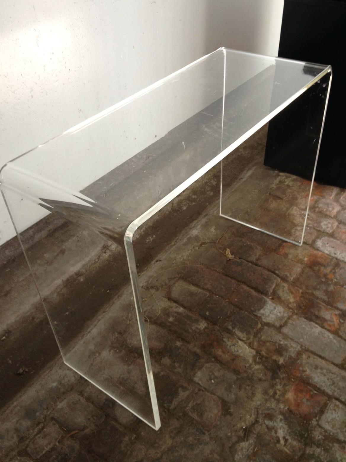 Peekaboo Clear Console Table