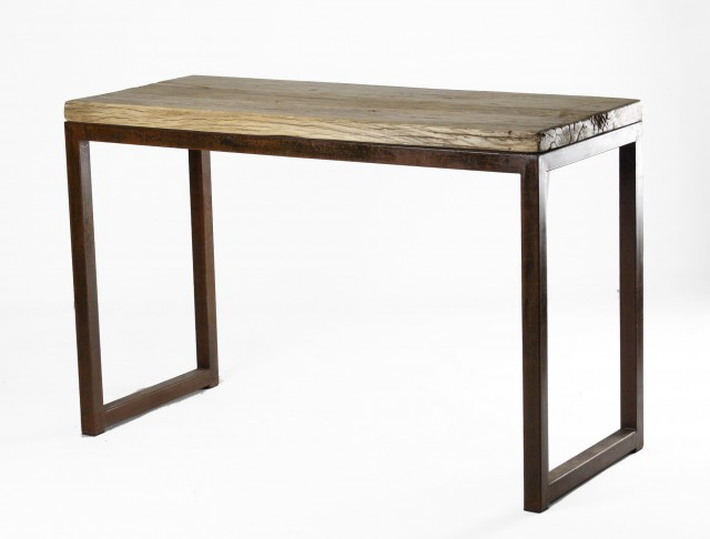 Reclaimed Wood And Iron Console Table