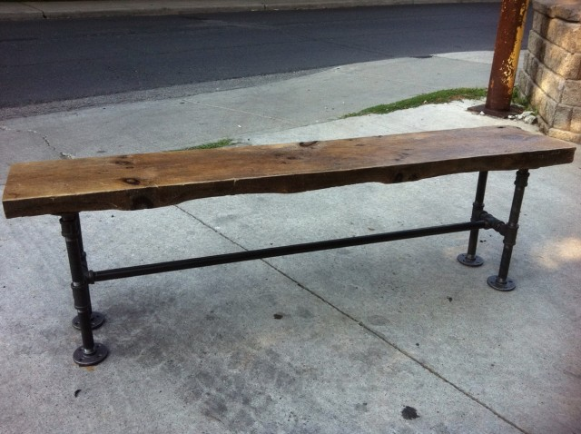 Reclaimed Wood Bench For Sale