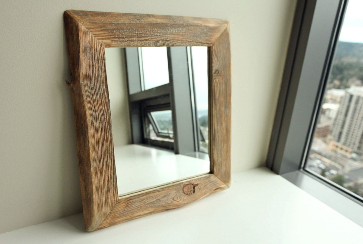Reclaimed Wood Mirror Frame Home Design Ideas