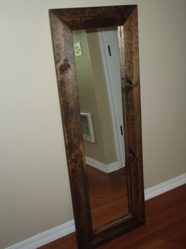 Reclaimed Wood Mirror Full Length