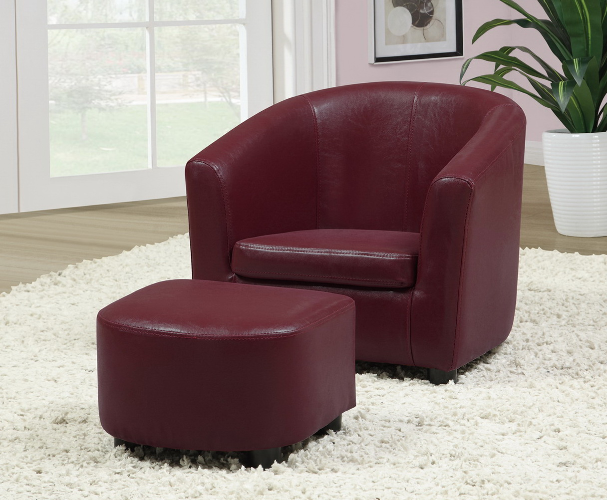 Red Accent Chair With Ottoman Home Design Ideas
