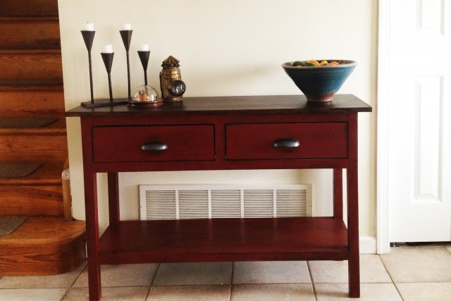 Red Console Table Target