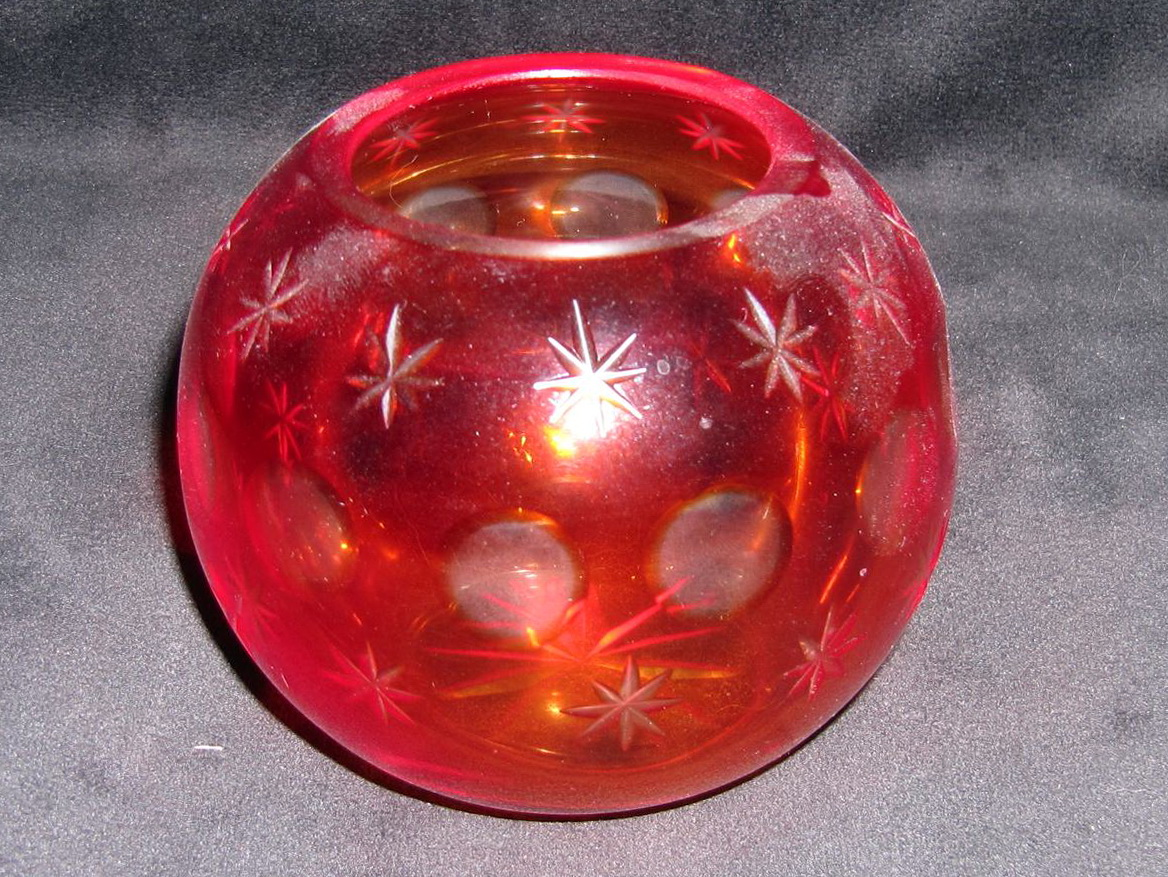 Red Glass Vases And Bowls