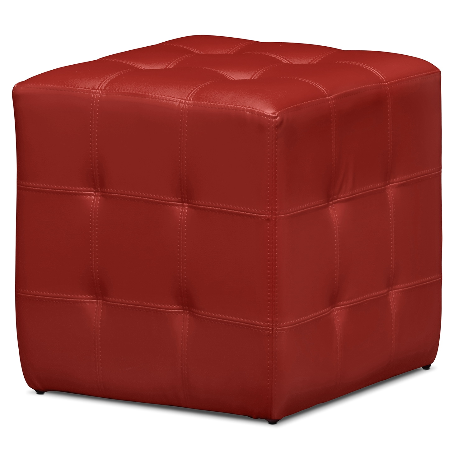 Red Leather Ottoman Cube Home Design Ideas