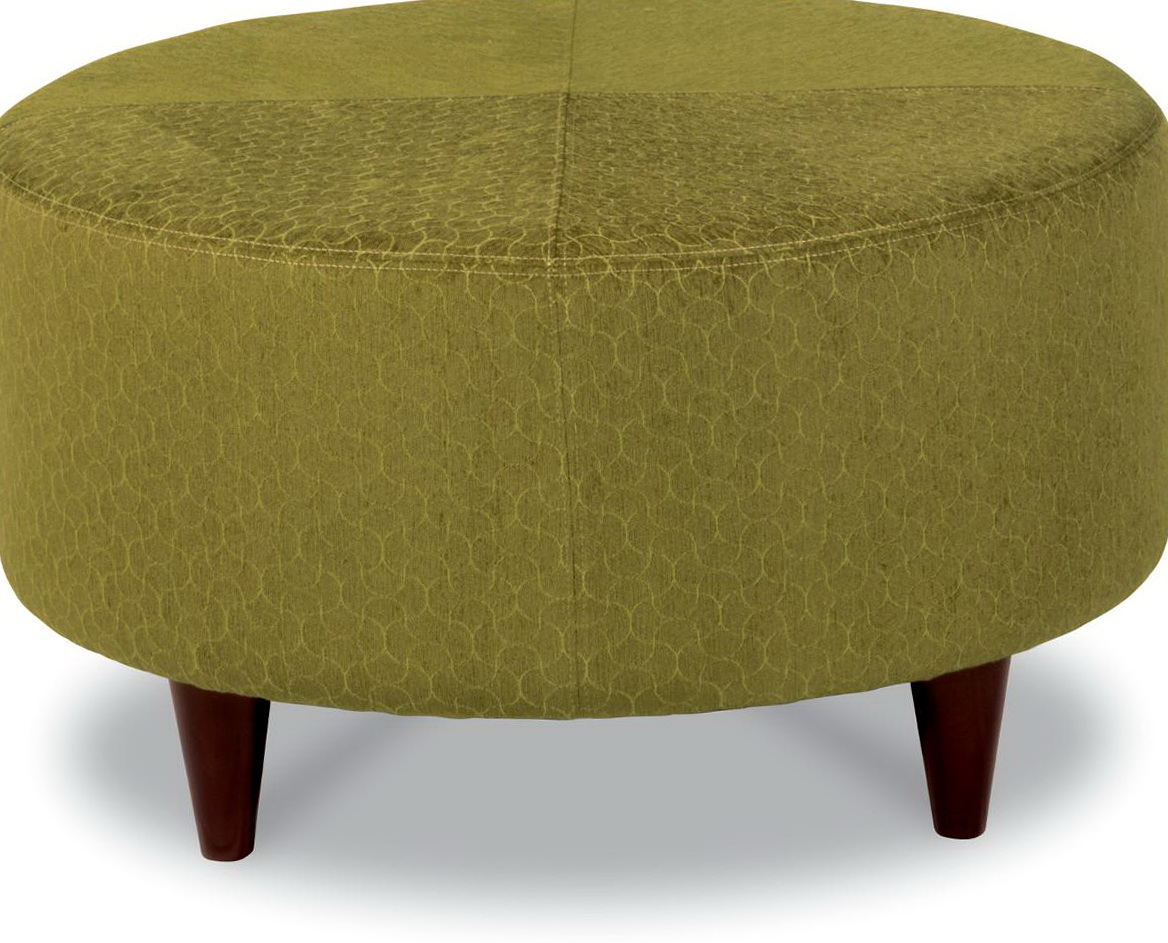 Round Cocktail Ottoman Upholstered