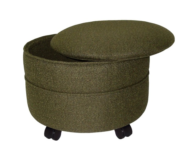 Round Ottomans With Storage
