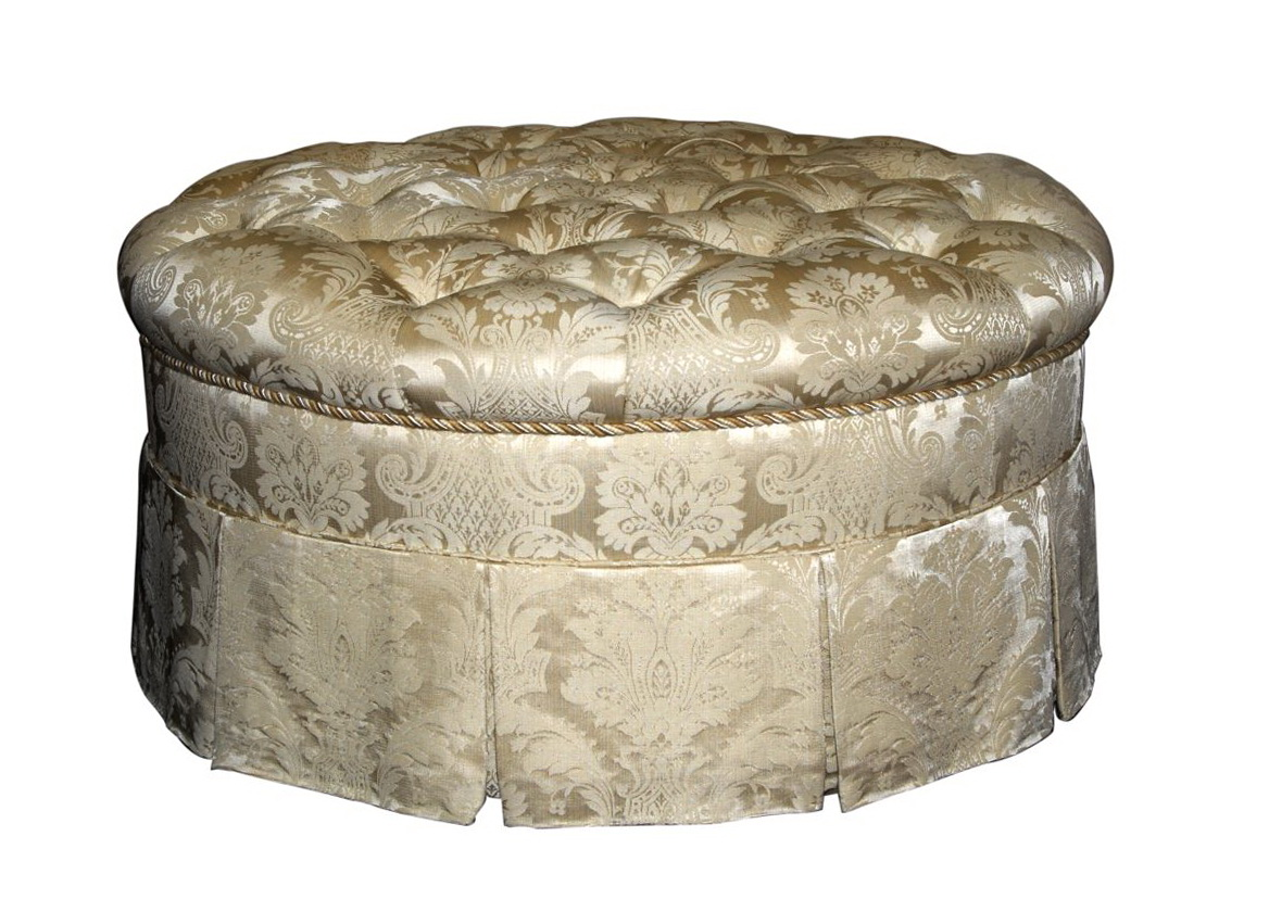 Round Tufted Ottoman With Fringe Home Design Ideas