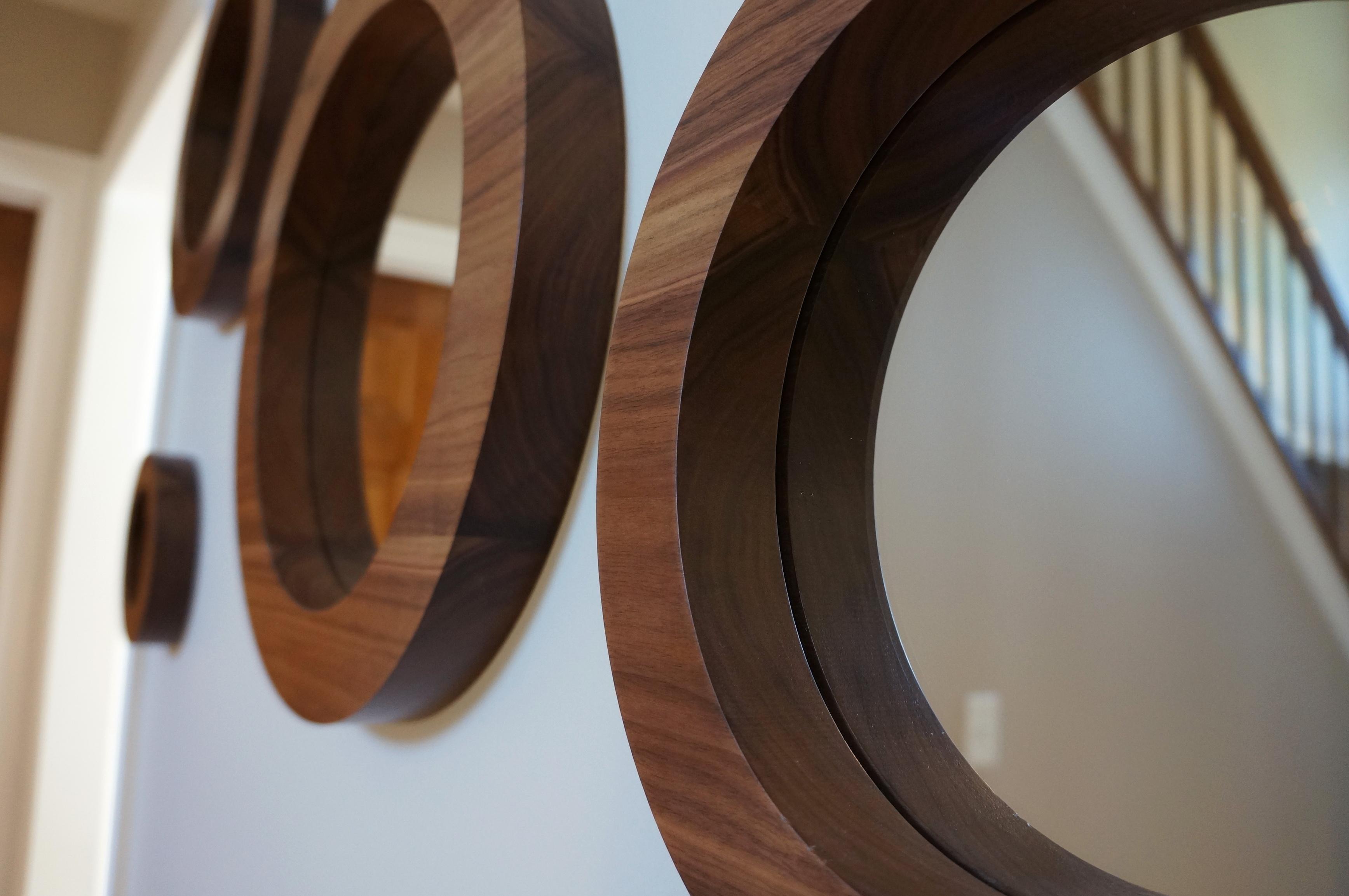 Round Wall Mirror Set