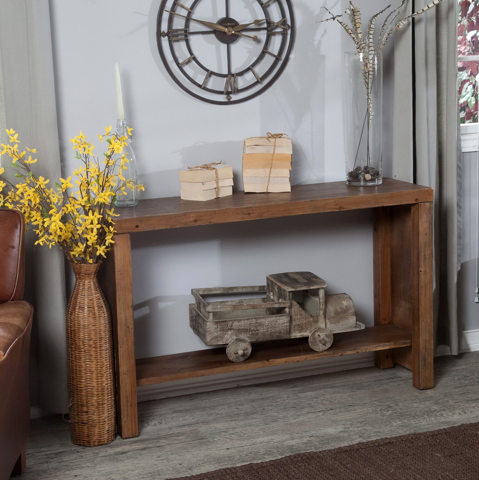 Rustic Console Table Decor
