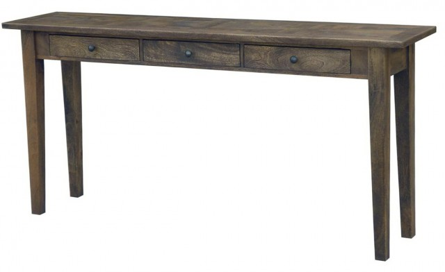 Rustic Distressed Console Table
