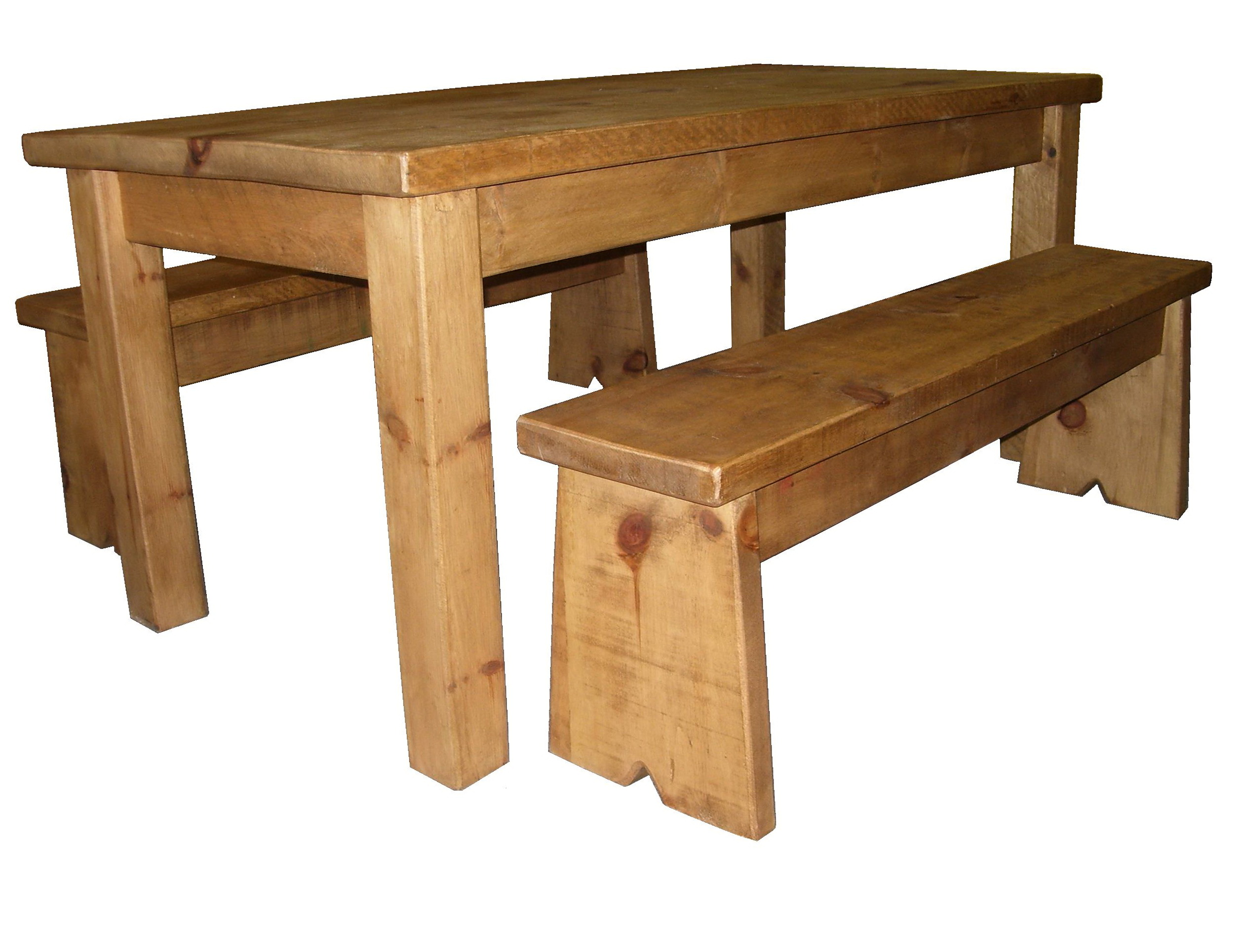 Rustic kitchen table with bench home design ideas for Rustic benches for kitchen table