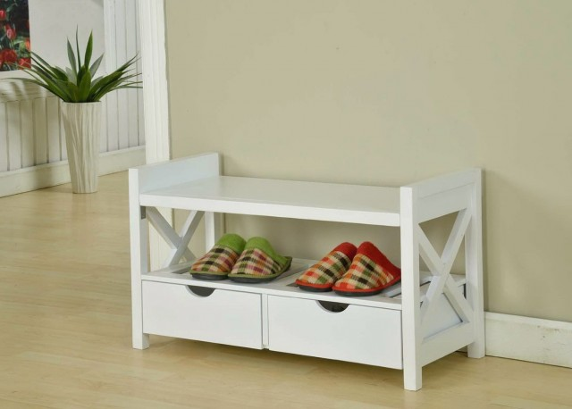 Shoe Storage Bench White