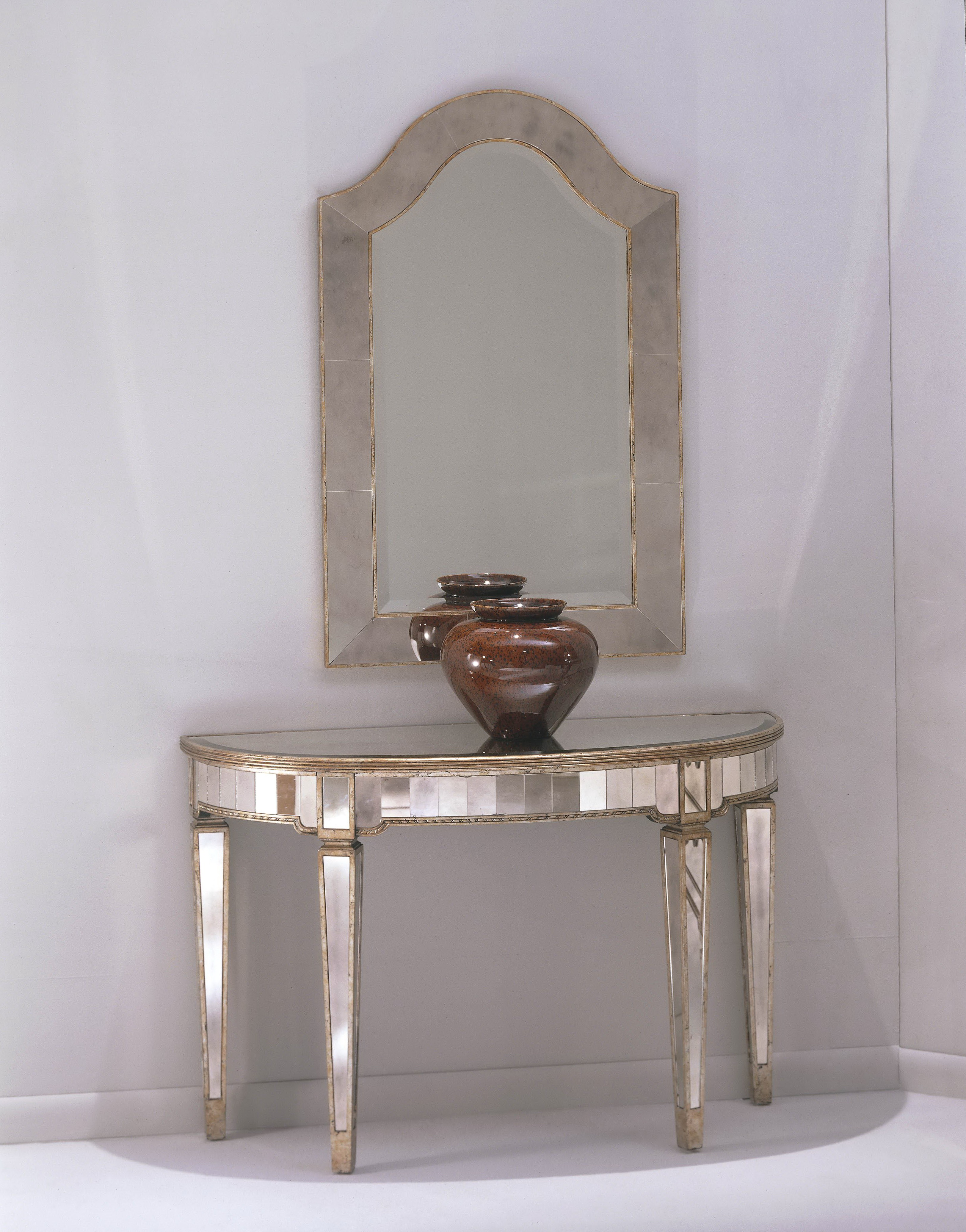 Silver Console Table And Mirror