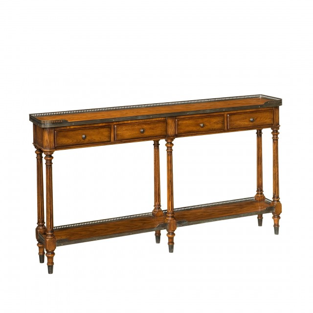 Slim Console Table With Storage