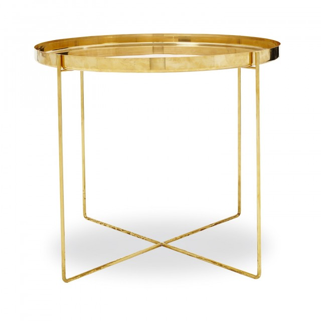 Small Brass Side Table