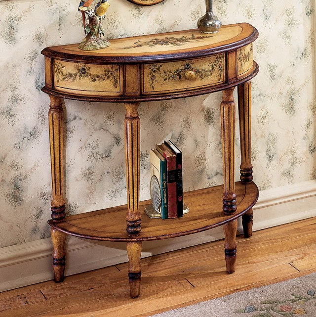 Small Demilune Console Table