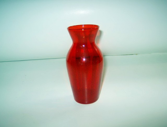 Small Red Glass Vase