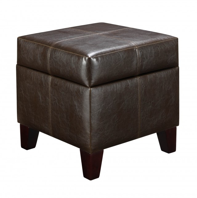 Small Storage Ottoman Brown