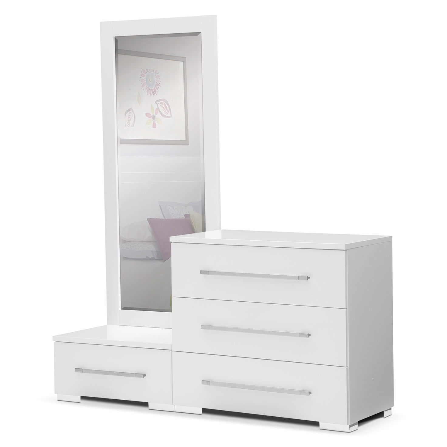 Small White Dresser With Mirror Home Design Ideas