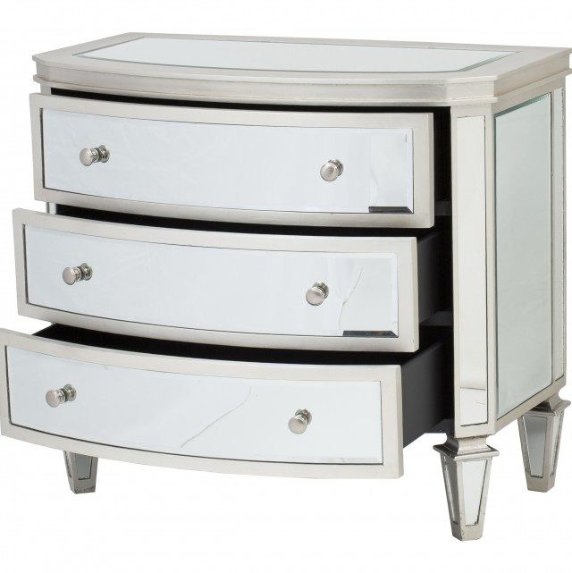 Smoked Mirrored Chest Of Drawers