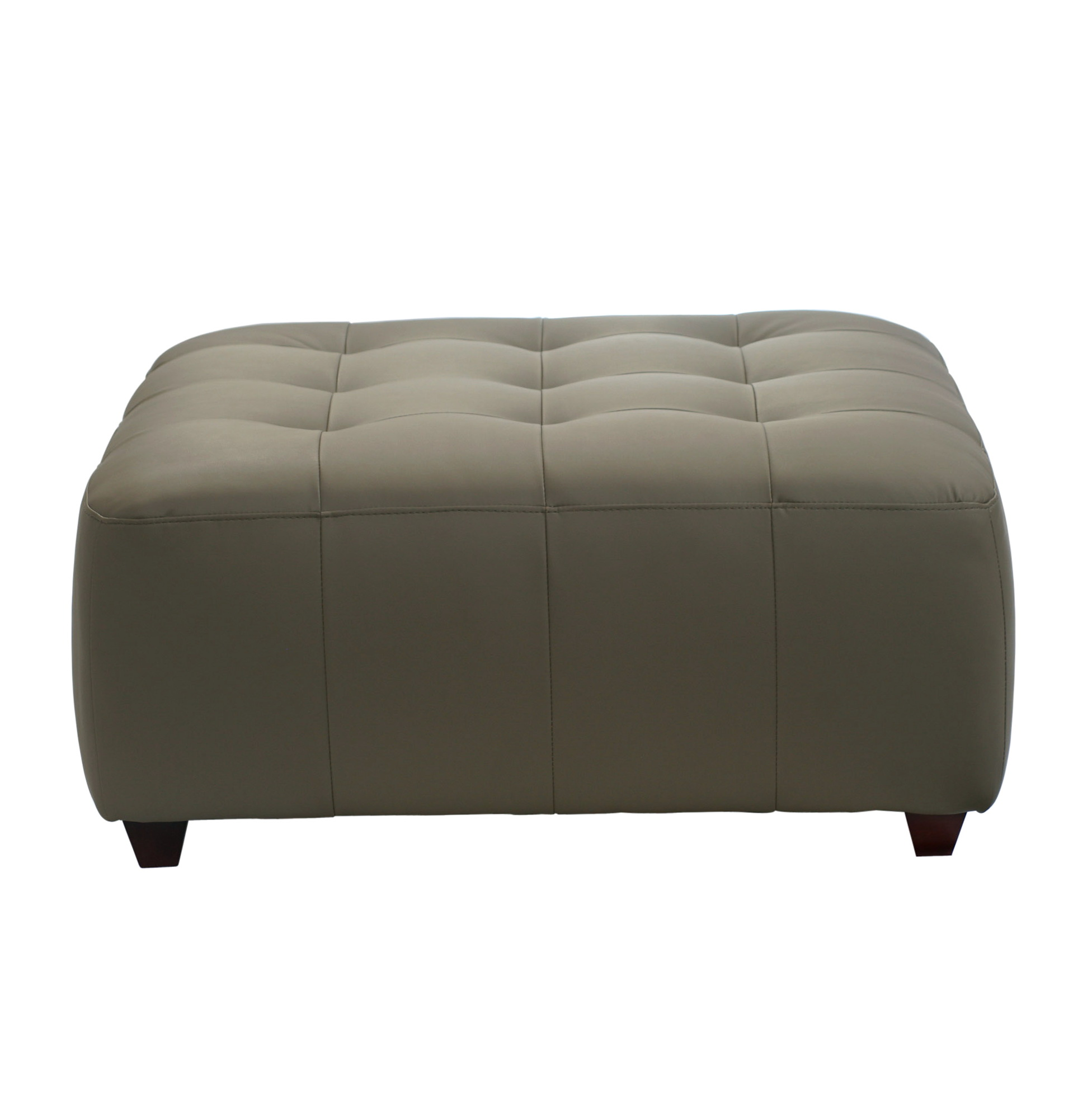 Square Leather Tufted Ottoman