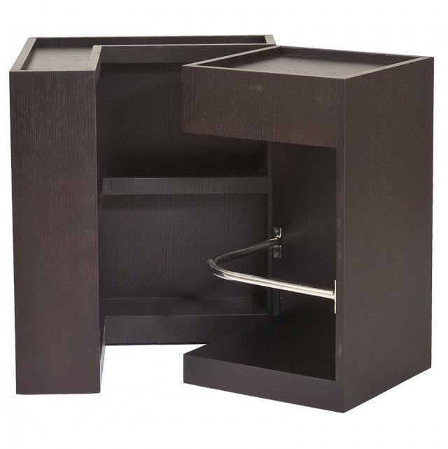 Square Side Table With Storage