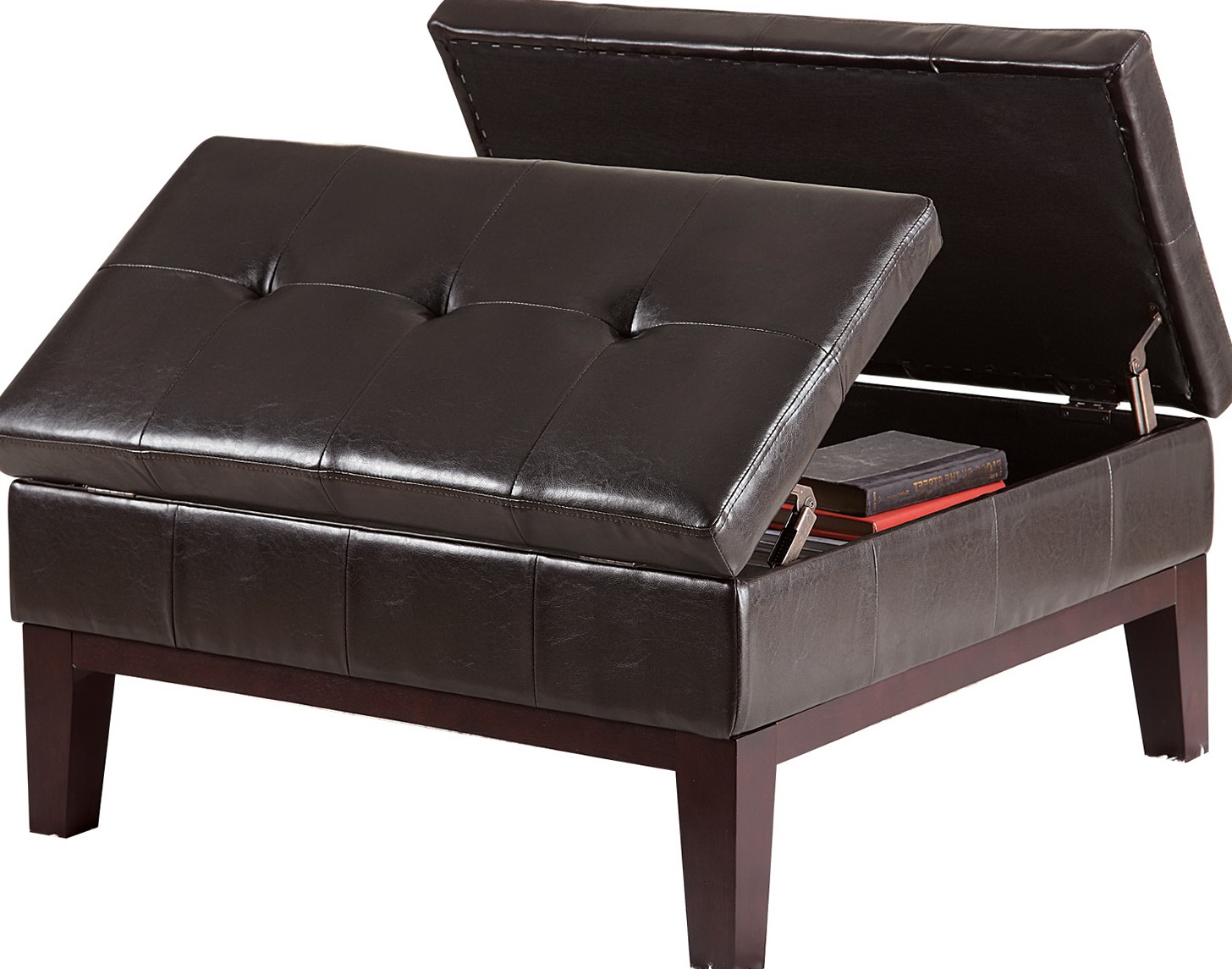 Square Tufted Ottoman Storage