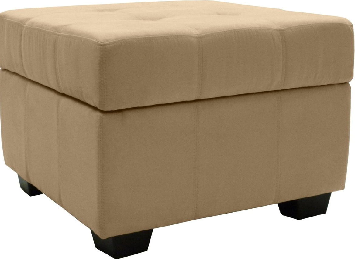 Square Upholstered Ottoman Coffee Table Home Design Ideas