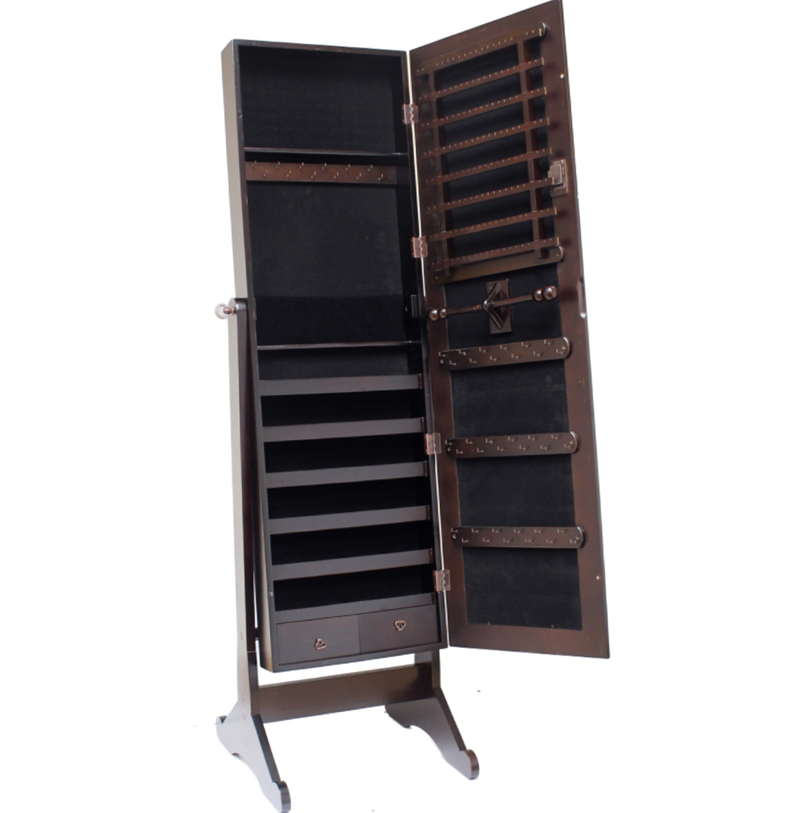 Standing Mirror Jewelry Box