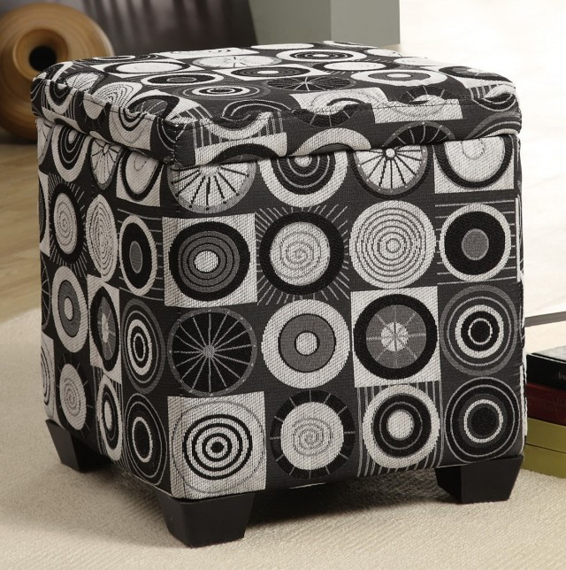 Storage Ottoman Cube Fabric