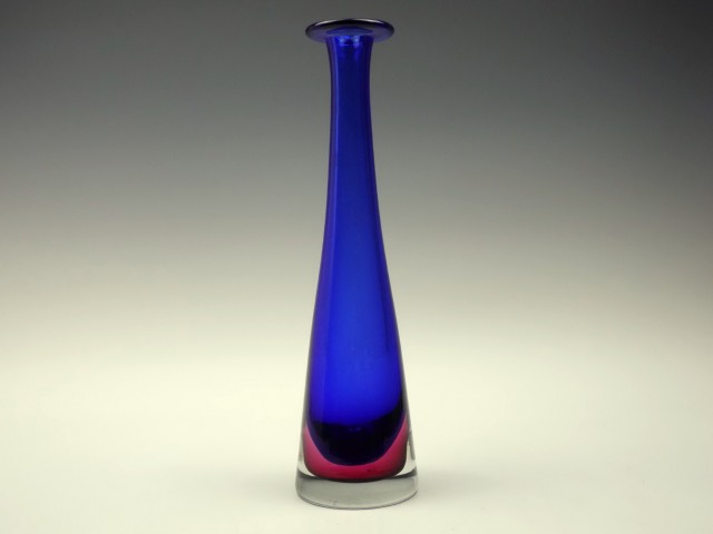 Tall Blue Glass Vase