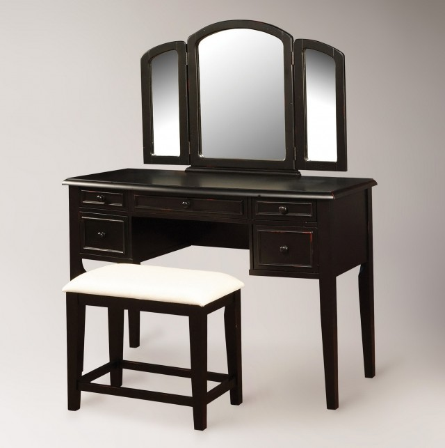 Tri Fold Vanity Mirror With Lights