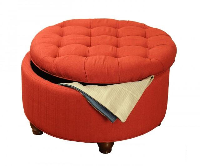 Tufted Round Ottoman With Storage