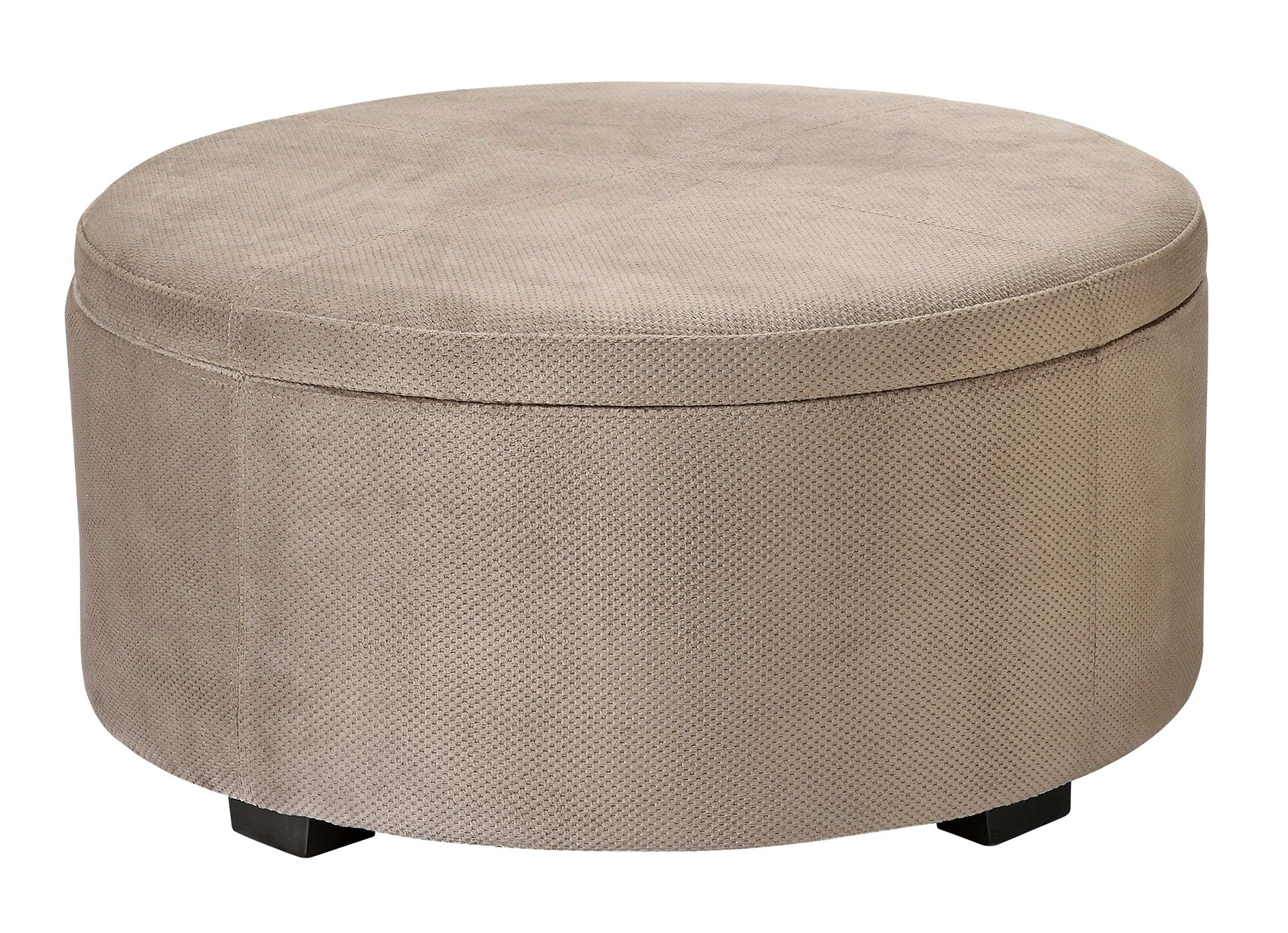 Upholstered Ottoman With Tray