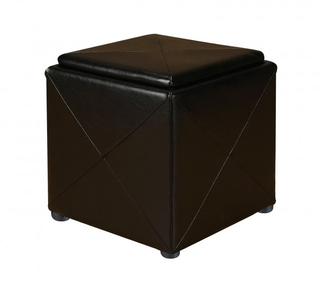 Upholstered Storage Ottoman Cube