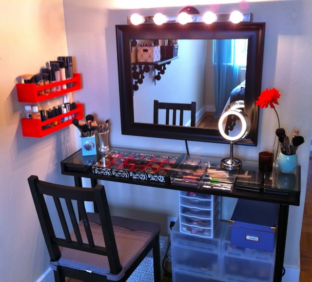 Vanity Desk With Mirror And Lights Ikea