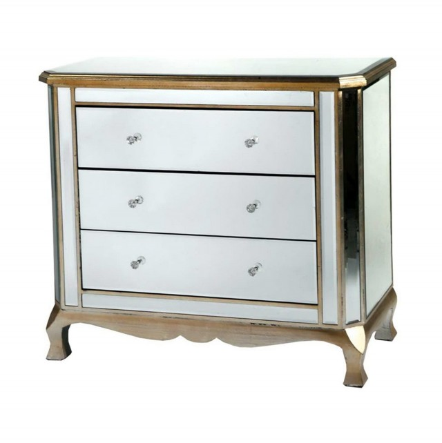 Venetian Mirrored Chest Of Drawers