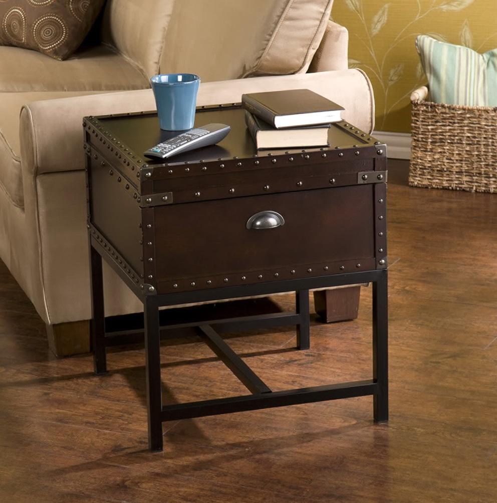 Vintage Trunk Side Table