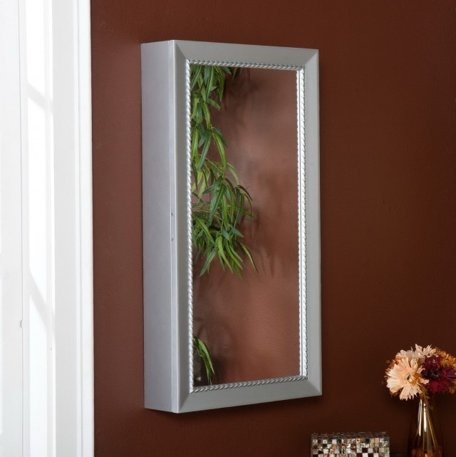 Wall Mirror Jewelry Box