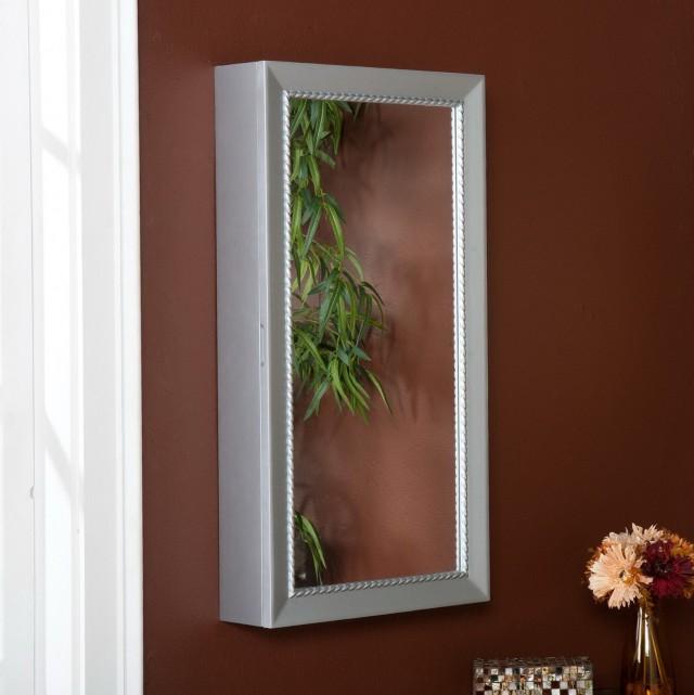 Wall Mirror Jewelry Box