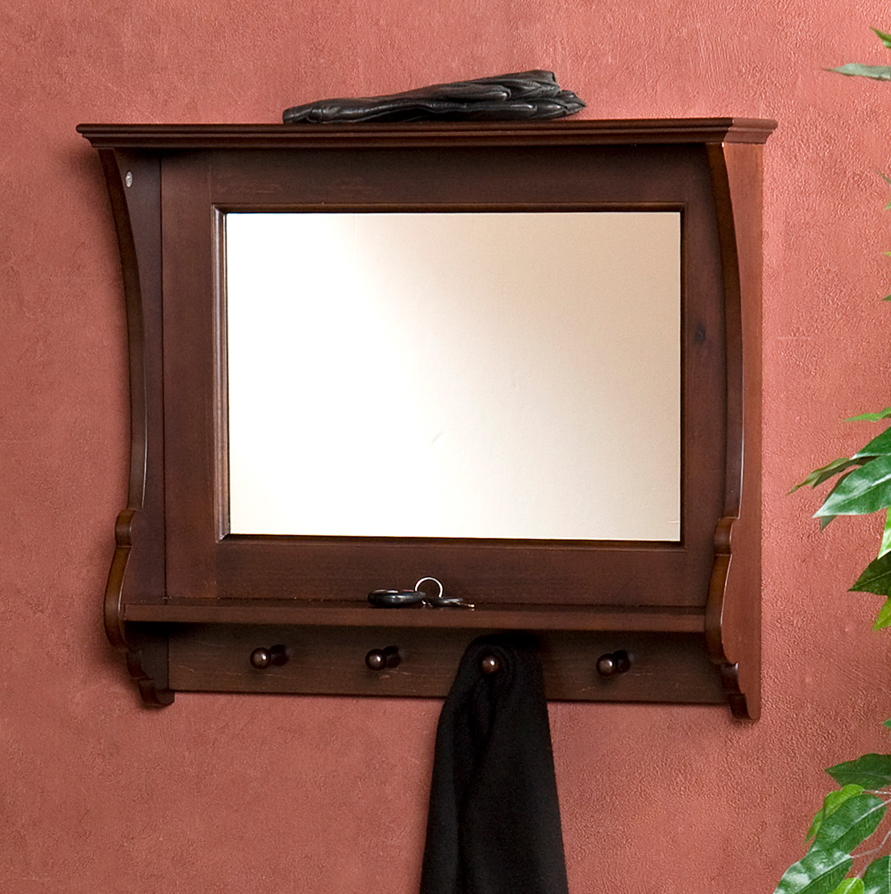 Wall Mirror With Hooks