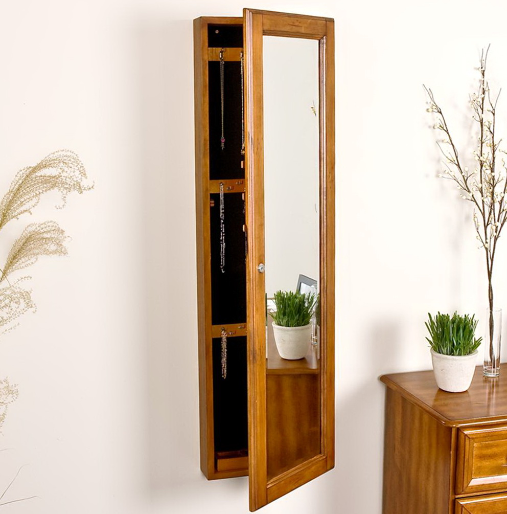 Wall Mounted Mirrored Jewelry Cabinet Home Design Ideas