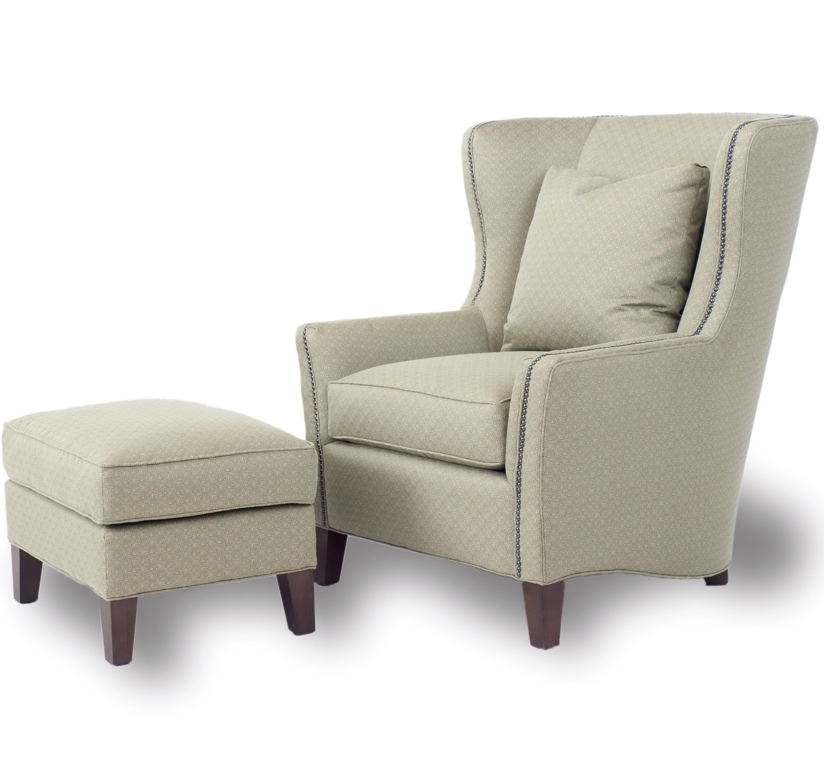 White Accent Chair With Ottoman Home Design Ideas